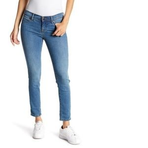 Free People Roller Crop Skinny Blue Jeans 29x27